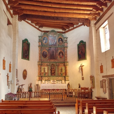 Beautiful interior of San Miguel Church